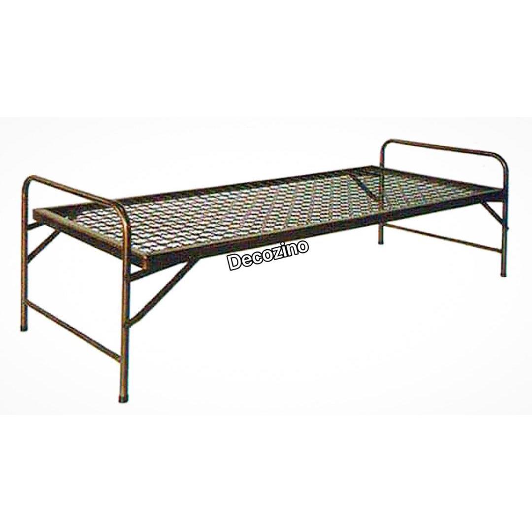 تخت فلزی سربازی کف توری تاشو ارزان