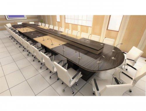 در سالنهای مجهز به پرده نمایش از چه نوع میز استفاده کنیم؟