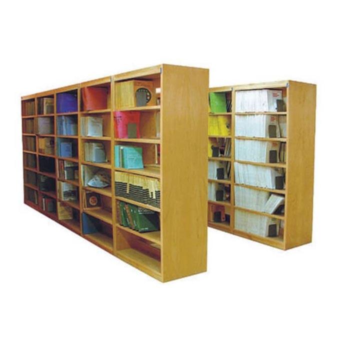 کمد کتابخانه چوبی یک طرفه و دو طرفه