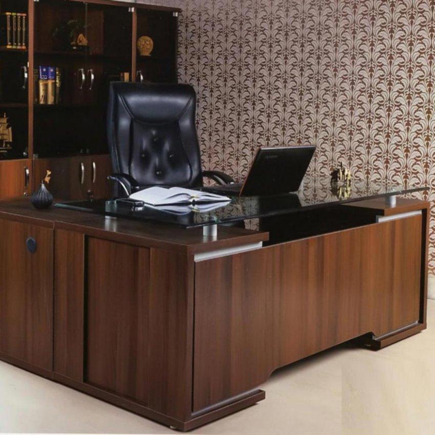 میز مدیریتی صفحه شیشه ای