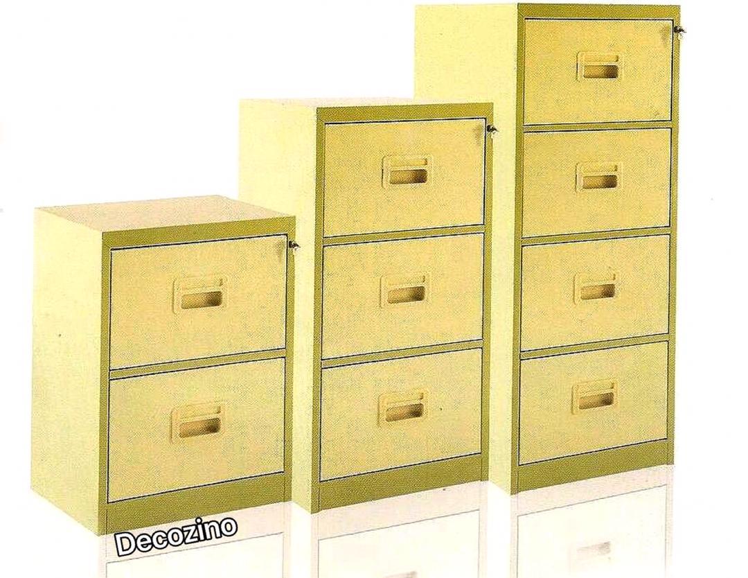 فایل فلزی اداری 4 کشو رنگ کوره ای قفل مرکزی و رمزدار