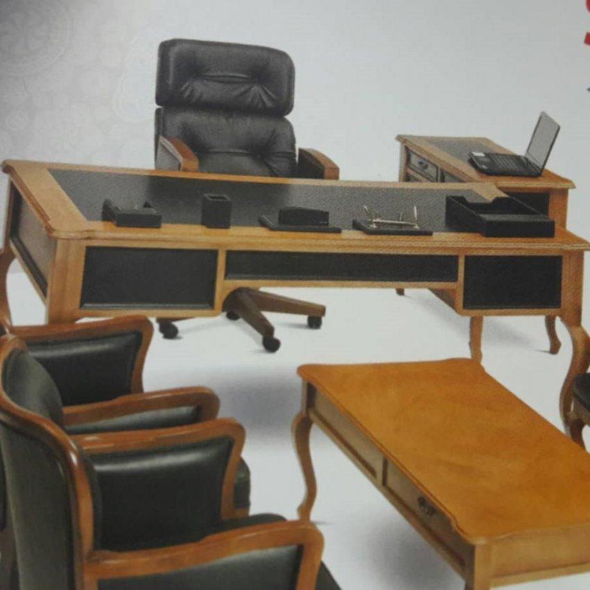 میز اداری مدیریتی ام دی اف چوبی کلاسیک