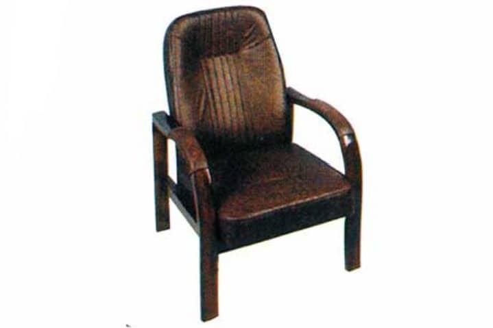 مبل چوبی اداری تک نفره رویه چرم صندلی مبلی مهمان صندلی انتظار