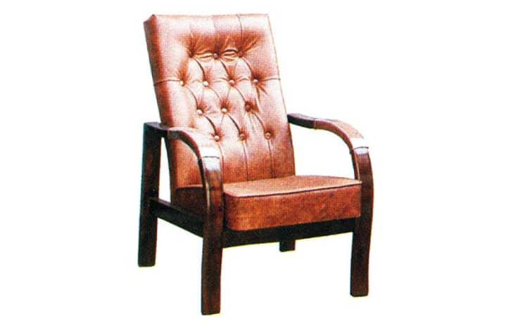 صندلی مبلی مبل چوبی تک نفره رویه چرمی