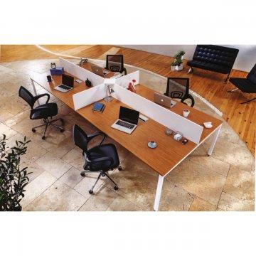 میز کارگروهی 4 نفره پایه فلزی مدرن صفحه ام دی اف