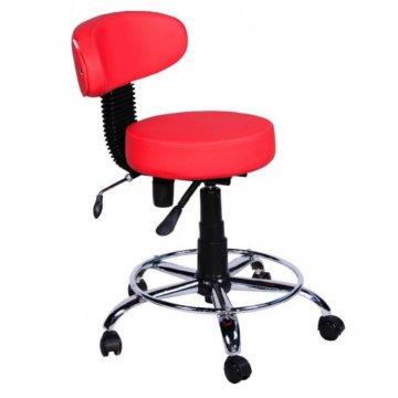 صندلی ازمایشگاهی پشتی دار چرخدار جکدار تابوره