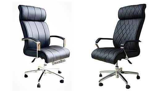 صندلی گردان مدیریتی چرخدار روکش چرمی