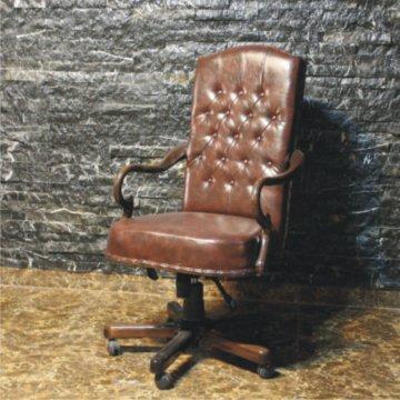 صندلی مدیریتی کلاسیک چوبی